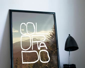 Colorado Type Poster 11x17 18x24 24x36
