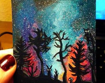 Hand Painted Custom Altered Magic the Gathering MTG Card Full Art Borderless island