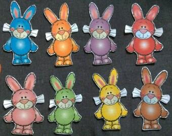 Carrot and Bunny Game Felt Set // Flannel Board Set // Preschool  // Cognitive Skills // Hide and Seek Felt Game