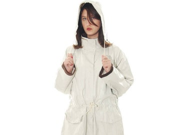 SALE White Coat, Coats, Womens Coat, Long Coat, 60's coat, 1960 Coat, Vintage Coat, Women's Coat, vintage Coat, Free Shipping, Size-OS