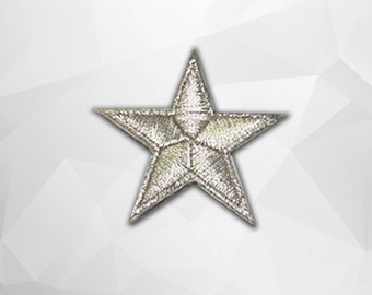 Sliver Star Iron on Patch(S1)-Star Applique Embroidered Iron on Patch -Size 4.4x4.4 cm
