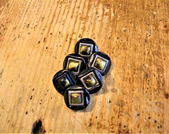 Vintage Celluloid Buttons, Set of 6