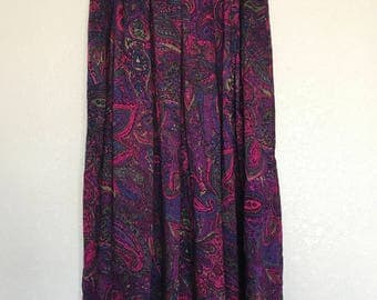 Purple paisley Prophesy skirt