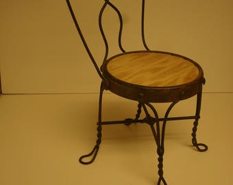 Miniature Ice Cream Parlor Chair Antique