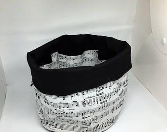 Music storage basket