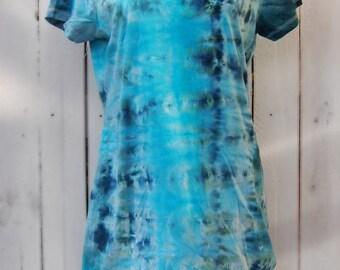 Tie Dye, Summer, T-Shirt, Dress - SIZE L - Elements Range, Water - OCEAN