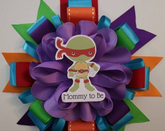 Baby Ninja Turtles TMNT Inspired Baby Shower Mommy To Be Corsage