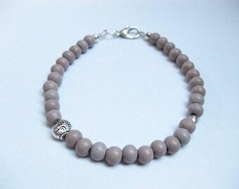 Bracelet - wooden beads, feminine simple bracelet, women,