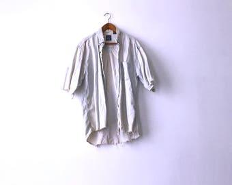 Beyond Distressed 90s Gap Denim Shirt - L