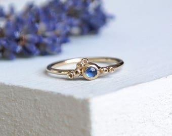 Sapphire Ring, Gold Ring, Emerald Ring, Dainty Ring, 9ct Gold Ring, Solid Gold Ring, Stacking Rings, Birthstone Ring, Gold Stacking Ring
