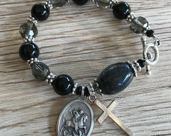 Rosary Bracelet  Saint George Charm