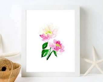 Peonies Wall Art - Framed Floral Wall Art, Peony Painting, Framed Prints, Framed Floral Art, Fine Art Print, Fixer Upper Style, Botanical
