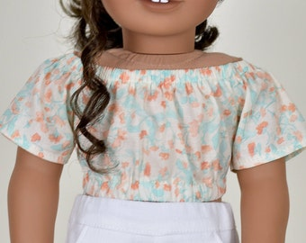 Taylor Country Cropped Top 18 inch doll clothes