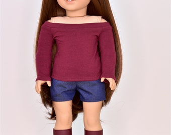 Boat neck  18 inch doll clothes