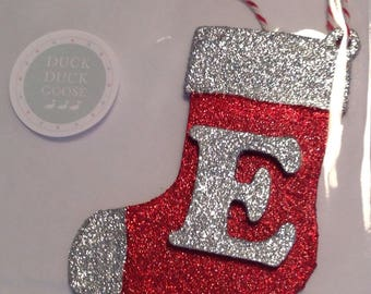 Personalised Christmas Stocking Baubles by Duck Duck Goose