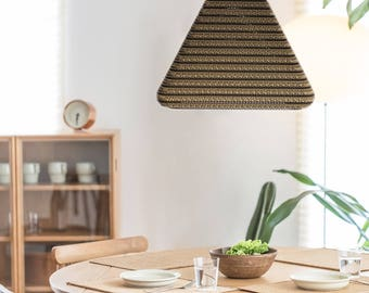 Eco friendly, natural, cozy lampshade. |Pyramis001|
