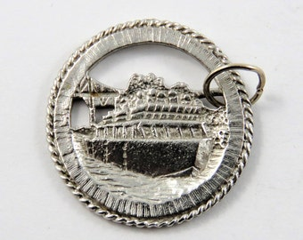 Chief Shingwauk Ferry Sault Ste. Marie Sterling Silver Charm or Pendant.