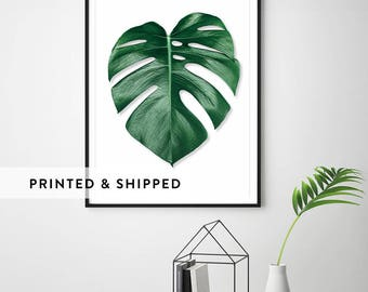 Monstera leaf, monstera print, palm leaf print, palm print, botanical prints, botanical art, leaf prints, monstera deliciosa, botanical leaf
