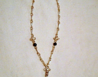 Necklace in 950 silver and Moonstone