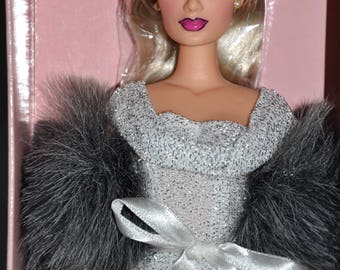 Mikelman Fabulous Fur Charise White Hot Doll, Barbie Style Doll, Vintage Barbie Size Doll, Blonde 12Inch Doll, Collector Doll, Charise Doll