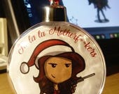 PREORDER Christmas chick with a hun Bauble