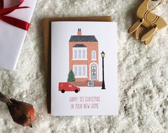 1st Christmas in New Home Charity Christmas Card. New home Christmas Card. First Christmas Card