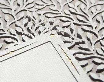 CROWN OF LEAFS romantic paper-cut Marriage Certificate | wedding vows | wedding gift