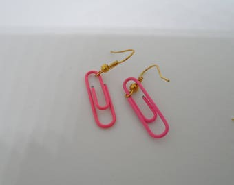 Clips earrings pink