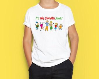 Doodles family - printable digital design