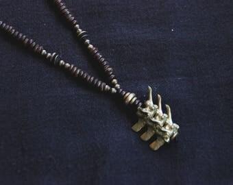 Mala of Bronze Bones - Vertebras - Tribal - Ethnic - Boho - Gypsy - Pachamama - Skull - Animal - Pixies - Cosplay - Steampunk - Organic