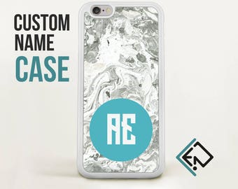 Custom Iphone 7 case personalized monogram marble phone case Valentines day / gift for her/ gift for him / best sister gift / mama bear CMT7