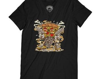 Pizza t-shirt western t-shirt junk food shirt fathers day shirt thug t-shirt gangster shirt foodie t-shirt hipster tshirt funny shirt APV44