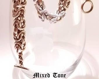 "Chunky Byzantine ""Mixed Metals"" Bracelet"