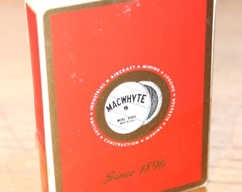 MacWhyte Wire Rope Company Playing Cards -- Sealed, US Playing Card Company -- Mac Whyte, Kenosha, Wisconsin