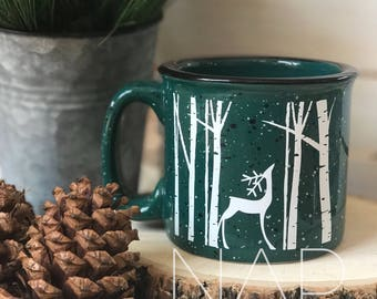 Reindeer || campfire mug || 15 ounces || Coffee Mug