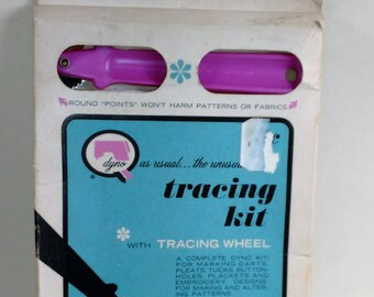 Vintage Dyno Tracing Kit With Tracing Wheel/Transfer Pattern Marks To Fabric/Kit Complete And In Good Shape (E)