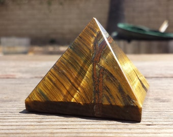 TIGER EYE natural large gemstone crystal pyramid 53mm [19]