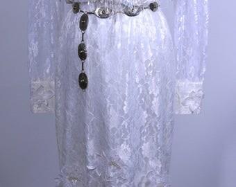 Lilia Smitty Cowgirl Wedding Dress 1980's