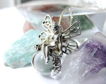 Fairy Sterling Silver Pendant Necklace