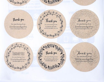 Shop Label Stickers - Product Labels Customised Kraft Round