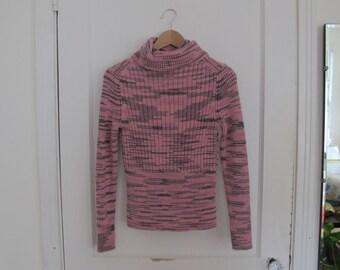 Space Dye Knit Turtleneck