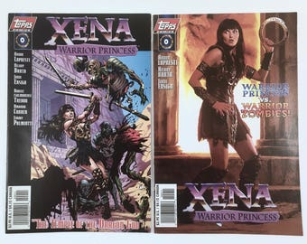Xena, Warrior Princess Comic, Number 0, Two Variant Covers, Near Mint Condition, Protective Sleeve, Warrior Zombies, Temple of Dragon God