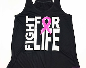 Breast Cancer Awareness Shirt ,   Breast Cancer Awareness Tank, Breast Cancer, Pink Ribbon