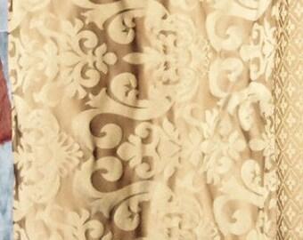 "Desert Damask Brocade Italian Bella Drapery Upholstery Fabric 57"""