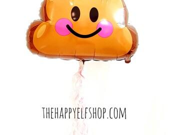 "25"" Poop emoji balloon. poop balloon. emoji balloons. old fart. kids poop party. emoji party. emoji poop balloon. party pooper. party poop"