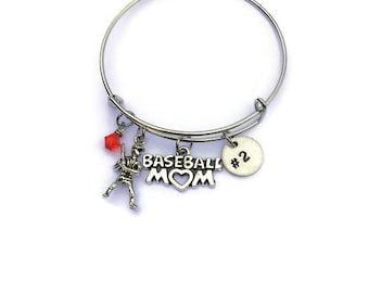 Personalized Baseball Mom Bracelet - Baseball Bracelet - Baseball Mom - Sports Mom - Sports Bracelet - Baseball Jewelry - Gift for Mom