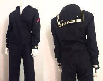 navy uniform etsy. Black Bedroom Furniture Sets. Home Design Ideas
