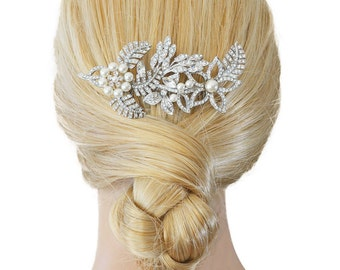 Pearl Bridal Headpiece, Wedding Hair Comb, Crystal Headpiece, Wedding Headpiece, Wedding Hair Accessories, Bridal Hair Accessories