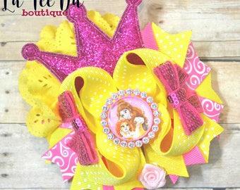 Belle Princess Hair bow Princess Pets Teacup Ott Hair Bow Over The Top Hair Bow