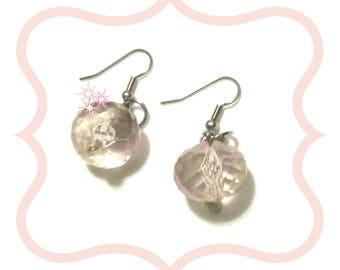 Rose Blush Crystal Drop Earrings, On Trend Earrings, Faceted Crystal Earrings, Birthday Gift, Crystal Earring Gift, Silver Earrings
